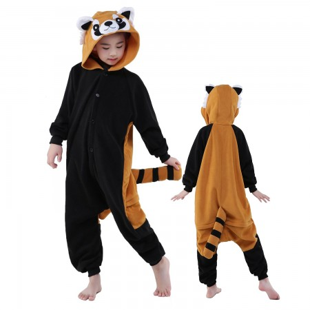 Kids Red Panda Raccoon Costume Onesie Pajama Animal Outfit for Boys & Girls