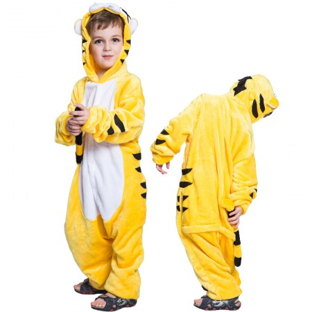Kids Tiger Costume Onesie Pajama Animal Outfit for Boys & Girls