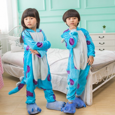 Kids Sullivan Costume Onesie Pajama Animal Outfit for Boys & Girls