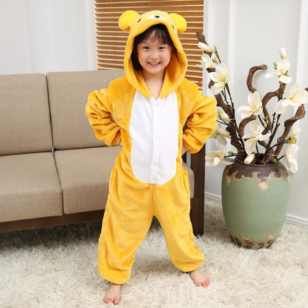 Kids Rilakkuma Costume Onesie Pajama Animal Outfit for Boys & Girls