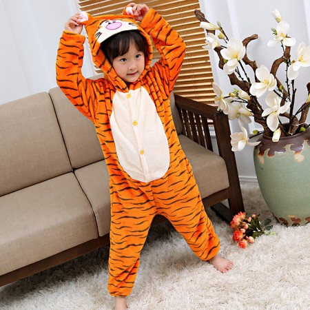 Kids Winnie The Pooh Tigger Costume Onesie Pajama Animal Outfit for Boys & Girls