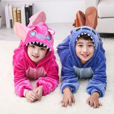 Kids Stitch Costume Onesie Pajama Animal Outfit for Boys & Girls