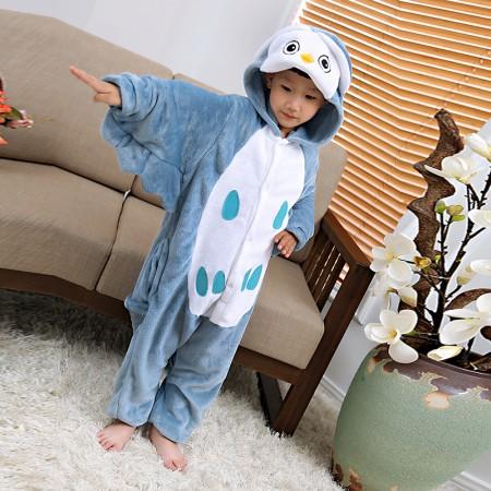 Kids Owl Costume Onesie Pajama Animal Outfit for Boys & Girls