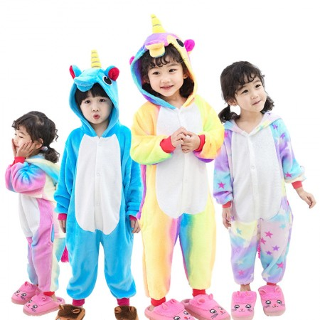 Unicorn Onesie for Kids Unicorn Pajama Animal Costume Outfit for Boys & Girls
