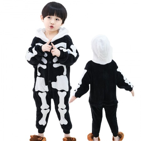 Kids Skeleton Costume Onesie Pajama Animal Outfit for Boys & Girls