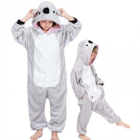 Kids Koala Costume Onesie Pajama Animal Outfit for Boys & Girls