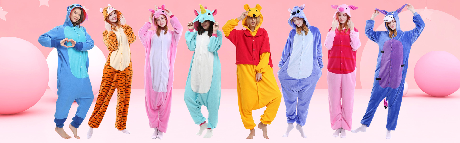 Animal Costumes & Animal Onesie Pajamas For Adult Women, Mens - FavoUnicorn.com