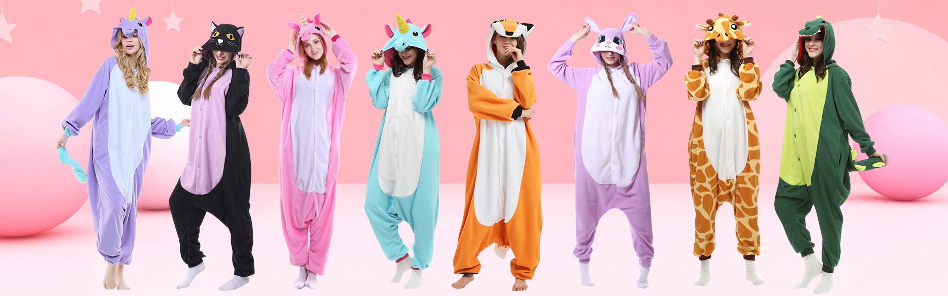 Animal Costumes & Animal Onesie Pajamas For Adult Women, Mens - FavoUnicorn.com